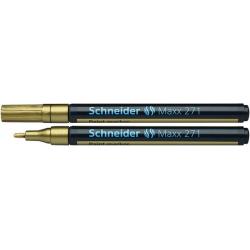 Marker olejowy Schneider MAXX 271 okrągły, 1-2 mm - złoty