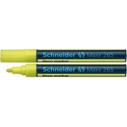 Marker kredowy Schneider MAXX 265 Deco, 2-3 mm - żółty