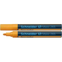 Marker kredowy Schneider MAXX 265 Deco, 2-3 mm - pomarańczowy