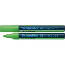 Marker kredowy Schneider MAXX 265 Deco, 2-3 mm - jasnozielony