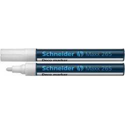 Marker kredowy Schneider MAXX 265 Deco, 2-3 mm - biały