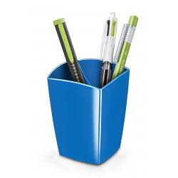 Pojemnik na długopisy CEP Pro Gloss - niebieski