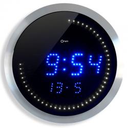 Zegar ścienny CEP LED 30cm - srebrny