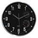 Zegar ścienny CEP Thermo-hygro 30cm - czarny
