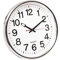Zegar ścienny Q-Connect Warsaw 37,5cm - srebrny