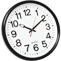 Zegar ścienny Q-Connect Wels 37,5cm - czarny