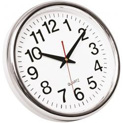 Zegar ścienny Q-Connect Budapest 28cm - srebrny