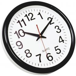 Zegar ścienny Q-Connect Tokyo 28cm - czarny