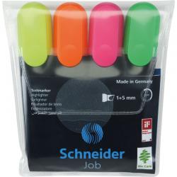 Zakreślacz Schneider JOB 4szt. - mix kolorów