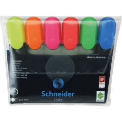 Zakreślacz Schneider JOB 6szt. - mix kolorów