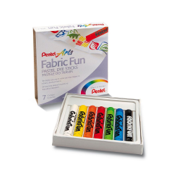 Kredki pastele do tkanin Pentel - 7 kolorów