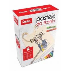 Kredki pastele do tkanin Pentel - zestaw z torbą
