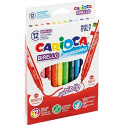Pisaki dwustronne Carioca Birello - 12 kolorów