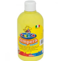 Farba Carioca Tempera 500 ml - żółta cytrynowa