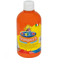 Farba Carioca Tempera 500 ml - pomarańczowa