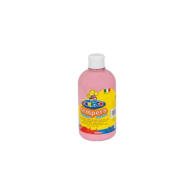 Farba Carioca Tempera 500 ml - różowa