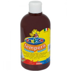 Farba Carioca Tempera 500 ml - brązowa
