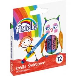 Kredki świecowe Fiorello - 12 kolorów