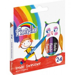 Kredki świecowe Fiorello - 24 kolory