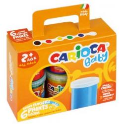 Farby Carioca tempera do malowania palcami - 6 kolorów