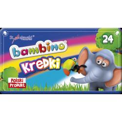 Kredki Bambino - 24 kolory w opakowaniu metalowym