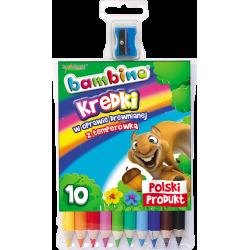 Kredki Bambino w oprawie drewnianej - 10 kolorów