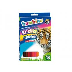 Kredki ołówkowe Bambino trójkątne - 18 kolorów