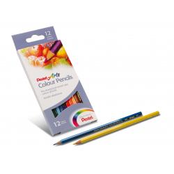 Kredki ołówkowe Pentel CB8 - 12 kolorów