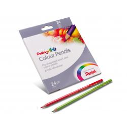Kredki ołówkowe Pentel CB8 - 24 kolory