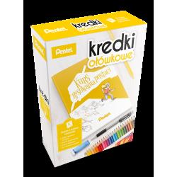 Kredki ołówkowe Pentel CB8 - 24 kolory + kurs rysowania postaci