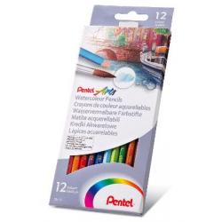 Kredki akwarelowe Pentel CB9 - 12 kolorów