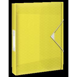Teczka z gumką Esselte Colour'Ice PP poszerzana - żółta