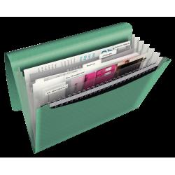 Teczka z 6 przegródkami Esselte Colour'Ice PP - zielona