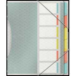 Teczka segregująca Esselte Colour'Ice PP z 6 przekładkami
