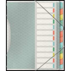 Teczka segregująca Esselte Colour'Ice PP z 12 przekładkami