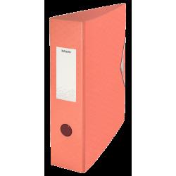 Segregator Esselte Colour'Ice z polyfoamu A4/82mm - brzoskwiniowy