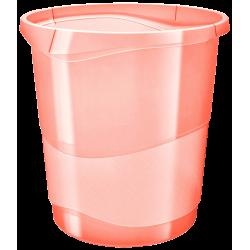 Kosz na śmieci Esselte Colour'Ice 14l - brzoskwiniowy