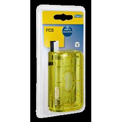 Dziurkacz mini Rapid Colour'Ice FC5 - żółty