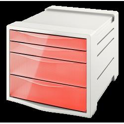 Pojemnik z 4 szufladami Esselte Colour'Ice - brzoskwiniowy