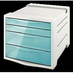 Pojemnik z 4 szufladami Esselte Colour'Ice - niebieski