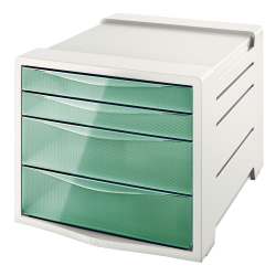 Pojemnik z 4 szufladami Esselte Colour'Ice - zielony