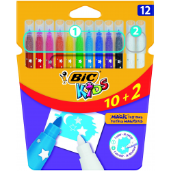 Pisaki Bic Kids Magic Color & Erase - 12 kolorów