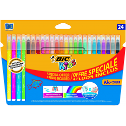 Pisaki Bic Kids - Kid Couleur Fluo - 24 kolory