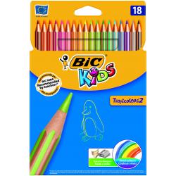 Kredki ołówkowe Bic Kids Tropicolors 2 - 18 kolorów