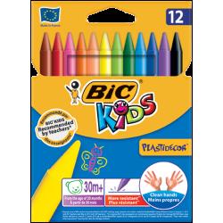 Kredki świecowe Bic Kids Plastidecor - 12 kolorów