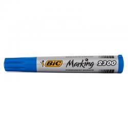 Marker permanentny Bic Marking 2300 ecolutions ścięty - niebieski