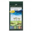 Pisaki artystyczne Faber-Castell - PITT ARTIST PEN B - LANDSCAPE - 6 kolorów