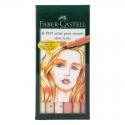 Pisaki artystyczne Faber-Castell - PITT ARTIST PEN B - SKIN - 6 kolorów