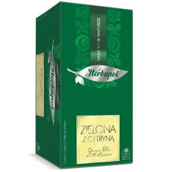 Herbata Herbapol Breakfast Zielona z cytryną 20t