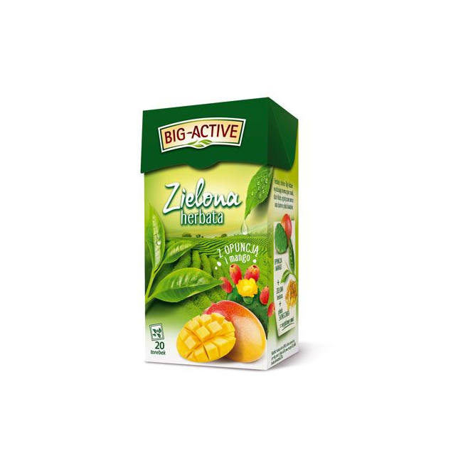 Herbata Big-Active zielona z opuncją i mango 20t